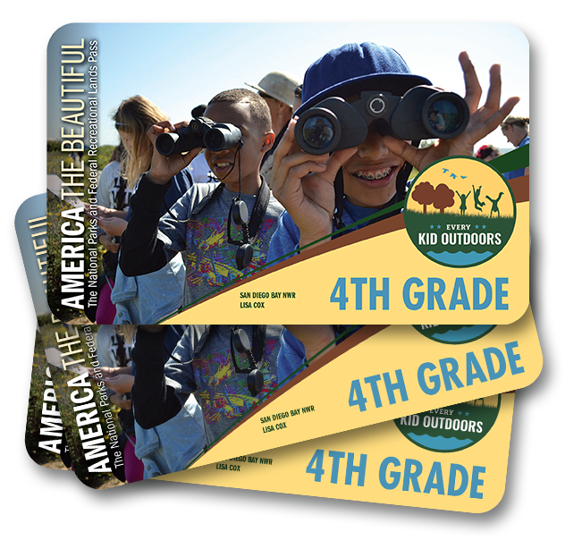 Every Kid in the Parks pass compliments of the U.S. Forest Service